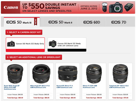 Canon 5D3 in Stock & Double Instant Savings