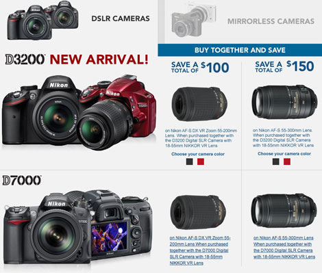 Nikon D3200 & D7000 + Lens Bundle Now Live