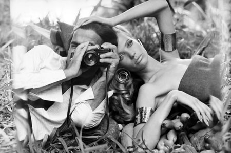 A precursor to the selfie, photographer Franco Rubartelli's self-portrait of himself with then-girlfriend Veruschka in 1968. Today's ubiquity of digital images gives pause for thought. What does constant recording do to us?