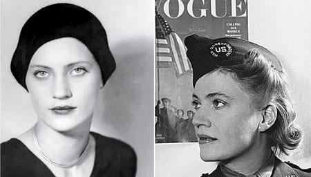 Lee Miller as a model and World War II correspondent.