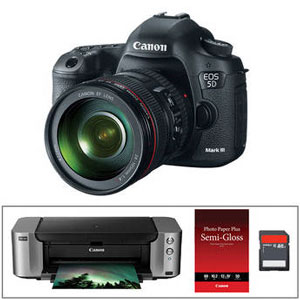 Canon EOS 5D Mark III with lens and printer for $3,499.