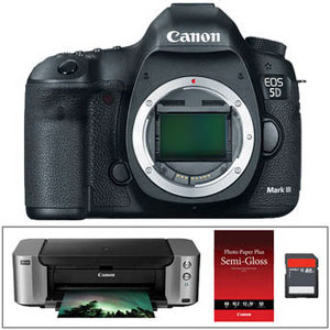 Canon EOS 5D Mark III body only with printer for $2,899.