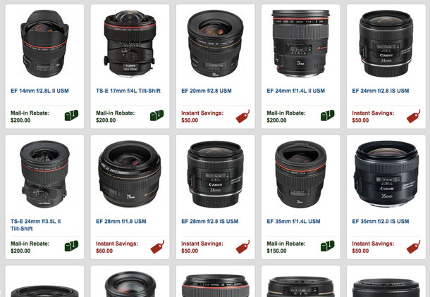 Save up to $300 on select Canon lenses and speedlights.