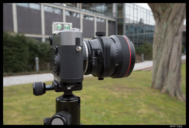 The Leica M9 with the Canon 17mm F4 TS-E