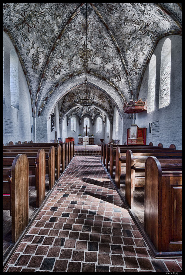 Church in Zarpen, Germany,  built in the 13th century / HDR shifted | Dierk Topp