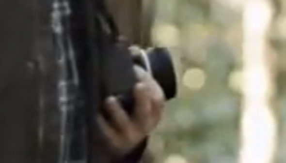 The silhouette of a camera that might touch the hearts of many. Goosebumps, anyone?