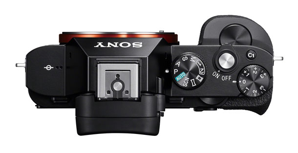 Sony A7R top with access to four dials.
