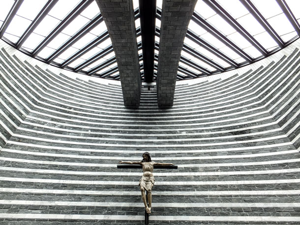 Chiesa Alpina di San Giovanni Battista in Mogno, Switzerland, by Mario Botta