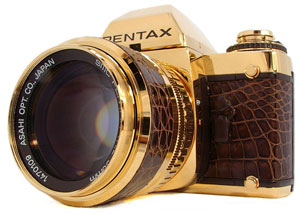 Next step: gold cameras? The Pentax LX Special Gold Edition, 1981 | Michael S. Ready