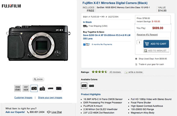 Life's a steal -- save up to $1,400 on Fujifilm X-E1 and X-Pro1 bundles.