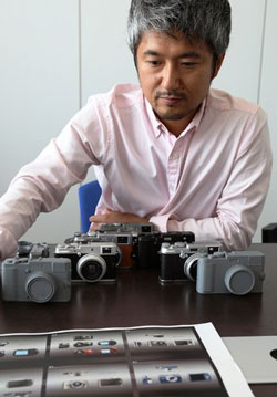 Masazumi Imai, the designer of Fujifilm's retro-looking X series cameras, at the company's headquarters in Tokyo. | Eric Pfanner / The New York Times