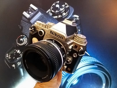 Beautiful silver Nikon Df with leatherette finishing or...