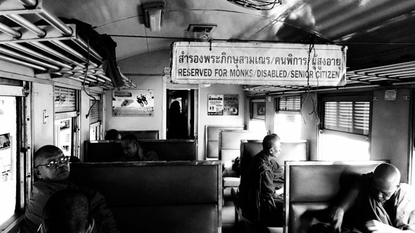 Monks on Train | Ronn Aldaman