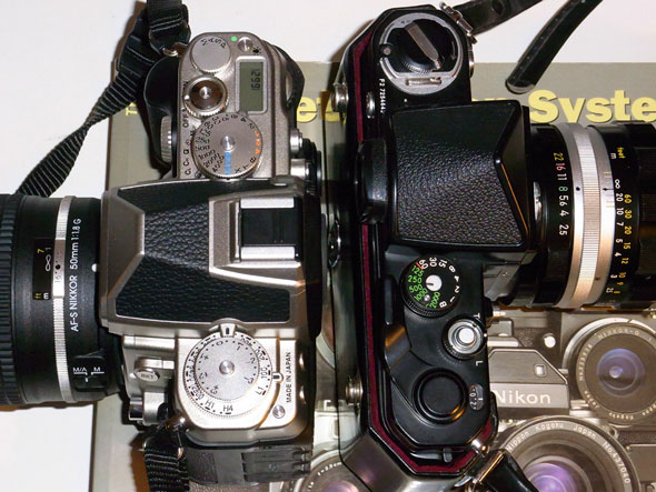 Nikon F2 on eye-level with the Nikon Df | Brian Sweeney