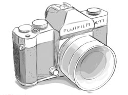 Artist's impression of the upcoming all-weather Fujifilm X-T1 | Fuji Rumors