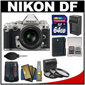 Nikon Df kit deals in the flavors silver and black...