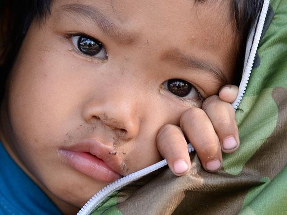Protester Kid, Bangkok | Nikon Df with Nikkor 50mm F1.8G