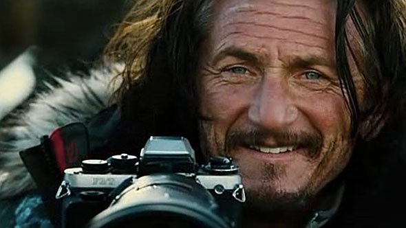 "Sean Penn a.k.a. photojournalist Sean O'Connell with his trusted Nikon F3/T in ""The Secret Life of Walter Mitty."""