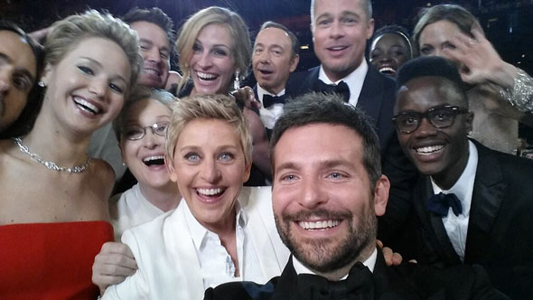 No doubt, world history's best selfie ever.