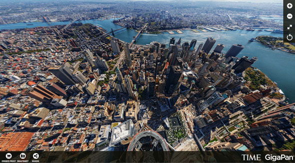 Yours to play with all the angles of this 360° panoramic view over New York City and vicinity. | TIME