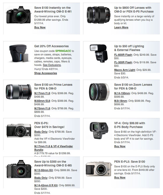 Olympus Spring Savings & Special Offers!