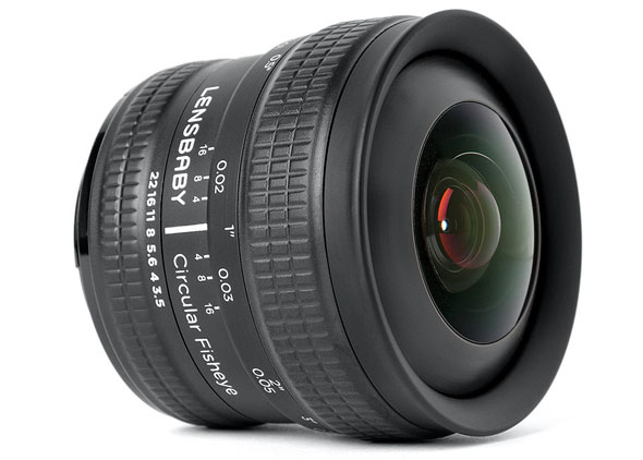 Just announced: Lensbaby's circular fisheye for Canon and Nikon mounts.