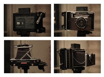 One of the tools you can use to shoot New55 FILM is the Chamonix Saber, pictured here with the Polaroid 545 holder attached.