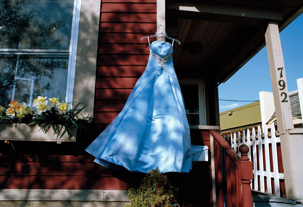Blue Secondhand Prom Dress | Rebecca Norris Webb