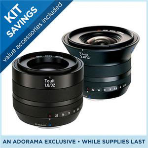 Zeiss Touit lenses for Fujifilm X series and Sony NEX don't come any cheaper...