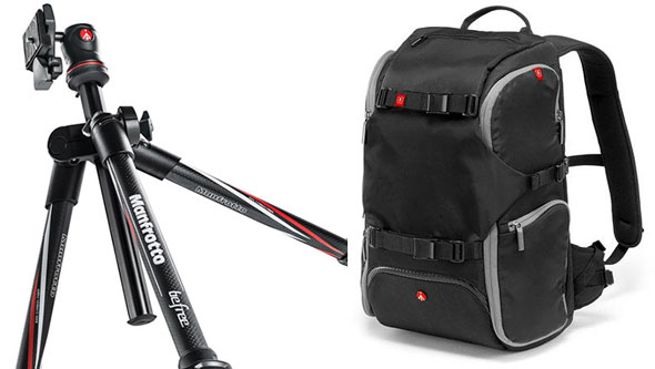 Manfrotto's new BeFree travel tripod and backpack...