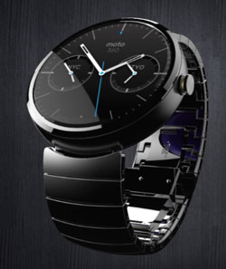 The so far most promising wearable smartwatch: Motorola's Moto 360. Coming this year. Without camera.