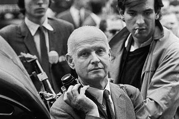 Henri Cartier-Bresson using a 50mm F1.2 Noctilux when he shot the riots in Paris in 1968.