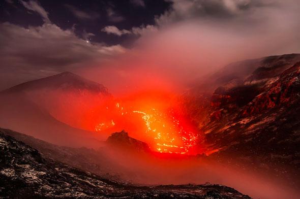 Krakatau's lava dome...