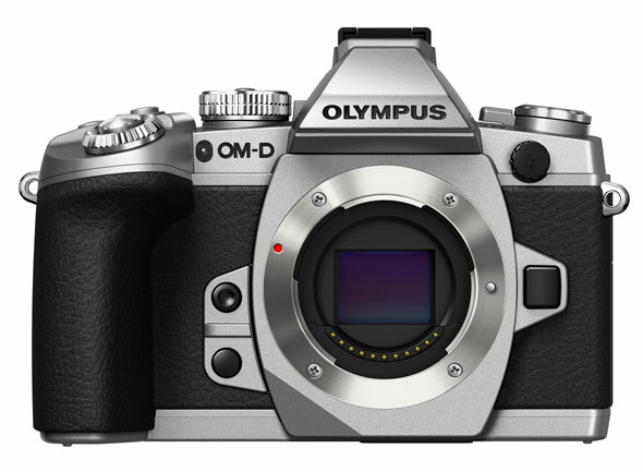 Olympus OM-D E-M1 in Silver -- Front