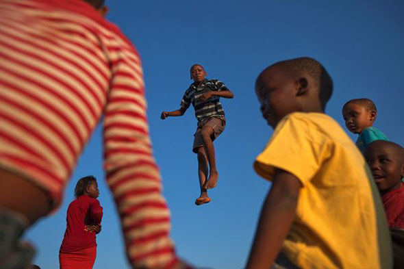 Boy on Trampoline | James Nachtwey / National Geographic