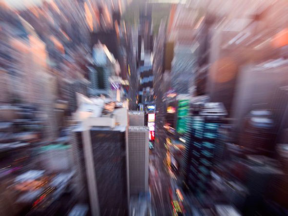Times Square -- A photographic technique blurs a view of Times Square in New York City. | Michael Yamashita / National Geographic