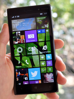 "Nokia Lumia 830 -- great power in an ""affordable flagship"" smartphone with excellent Zeiss PureView imaging technology."