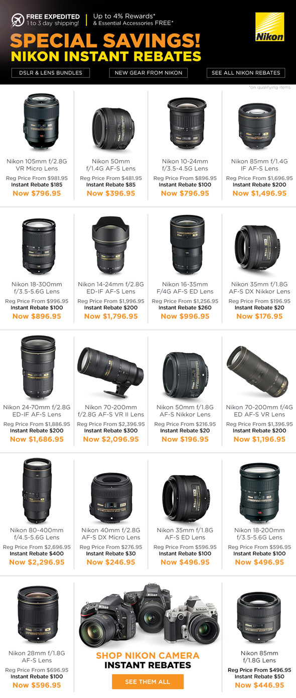 New Nikon Instant Rebates Are Out
