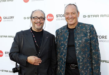 As seen in better days: Leica CEO Alfred Schopf (right) with his majority owner Andreas Kaufmann at the opening of the three-story Leica store in Los Angeles in June 2013.