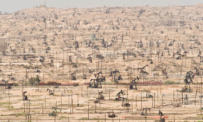 "Oil Wells Depleting oil fields are yet another symptom of ecological overshoot as seen at the Kern River Oil Field in California ""I don't understand why when we destroy something created by man we call it vandalism, but when we destroy something created by nature we call it progress."" (Ed Begley, Jr.) 