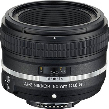 Nikon's probably best standard 50mm prime lens, the Nikkor 50mm F1.8G