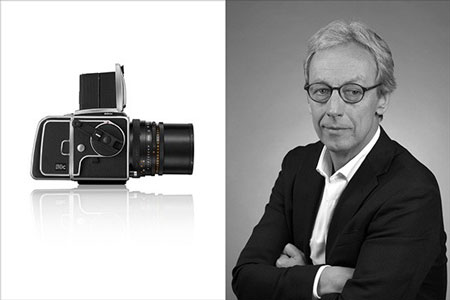 New Hasselblad CEO Perry Oosting, clearly on top of things at the embattled, once iconic market leader.