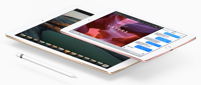 The iPad Pro 12.9-inch and 9.7-inch models.