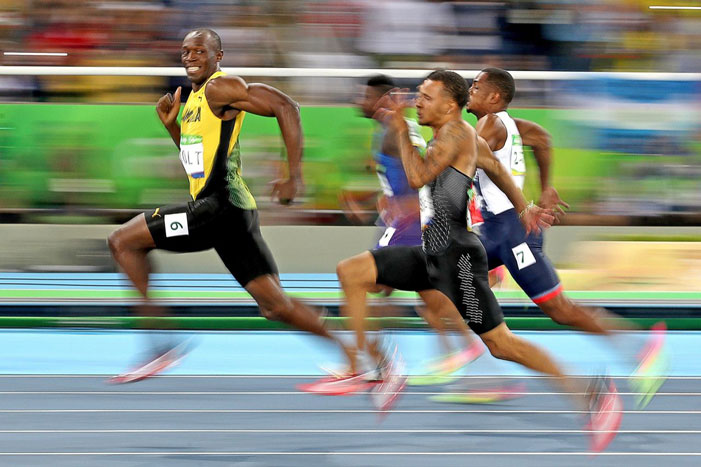 Usain Bolt @ Rio Olympics 100-meter semi-final | Cameron Spencer / Getty Images